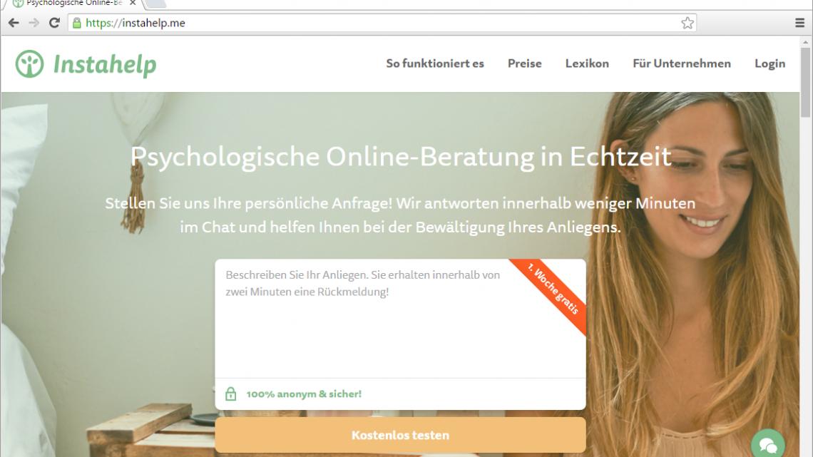Instahelp – Psychologische Online-Beratung in Echtzeit *sponsored*